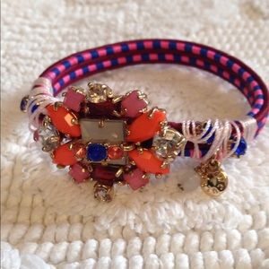 J Crew multi colored crystal bracelet